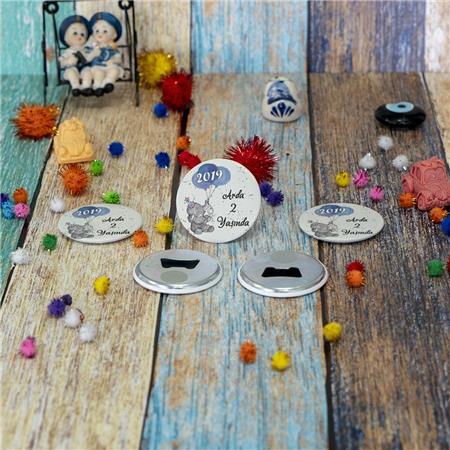 Metal Açacak Doğum Günü & Baby Shower Magneti DB 43