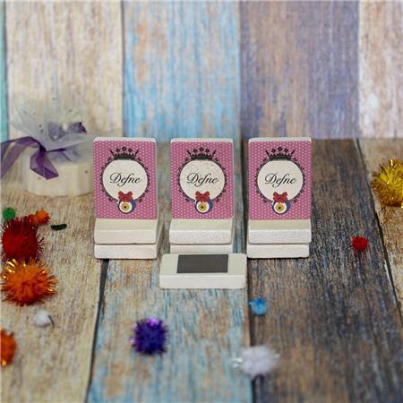 Doğal Taş Doğum Günü Baby Shower Magneti 4x6cm DB 29