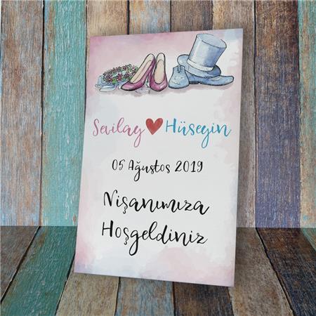 Düğün & Nikah & Nişan Karşılama Panosu KP 10
