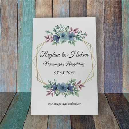 Düğün & Nikah & Nişan Karşılama Panosu KP 08