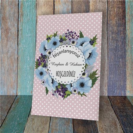 Düğün & Nikah & Nişan Karşılama Panosu KP 06