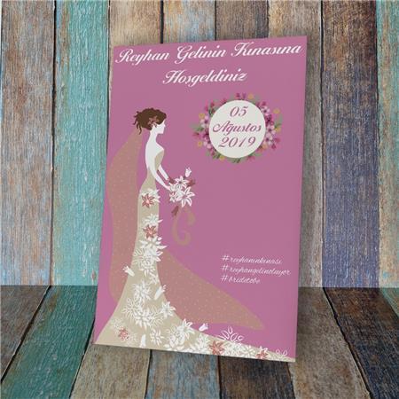 Düğün & Nikah & Nişan Karşılama Panosu KP 04